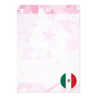 Recuerdo mexicano bonito invitación 12,7 x 17,8 cm