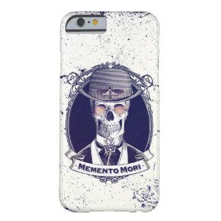 Recuerdo Mori del arte del cráneo del vintage Funda Barely There iPhone 6