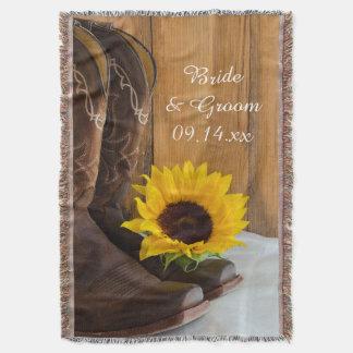 Recuerdo occidental del boda del girasol del país manta