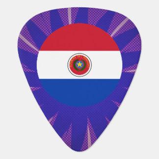 Recuerdo paraguayo de la bandera plectro