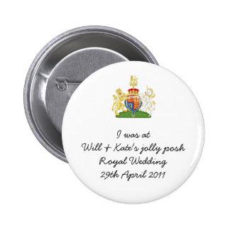 Recuerdo real del boda de la diversión - príncipe  chapa redonda de 5 cm