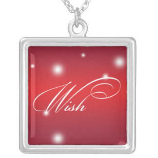Recuerdo rojo del resplandor de la escritura elega joyeria personalizada