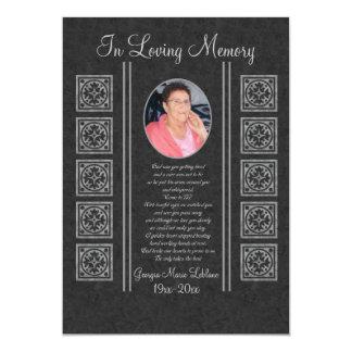 Recuerdos conmemorativos de encargo invitación 12,7 x 17,8 cm