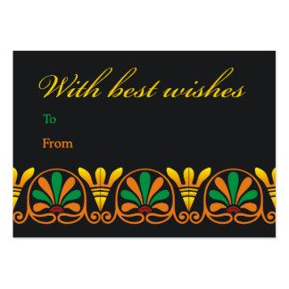 Recuerdos de la voluta floral tarjetas de visita grandes