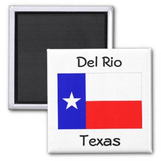 Recuerdos de los imanes de la bandera de Del Río Imán Cuadrado