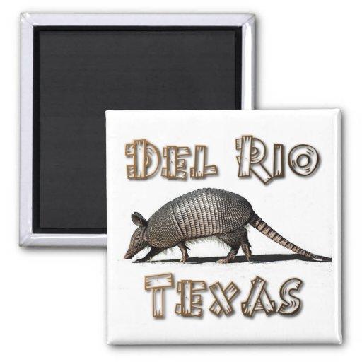recuerdos del imán del armadillo de Río Tejas del