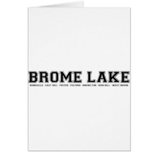 Recuerdos del lago Brome Tarjeton