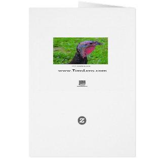 Recuerdos el el día del pavo, una reflexión linda tarjeta de felicitación