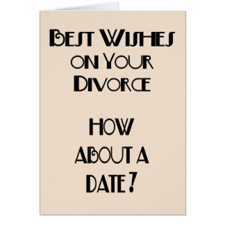 Recuerdos en su divorcio tarjeta de felicitación