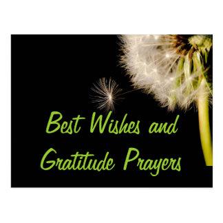Recuerdos y rezos de la gratitud postal