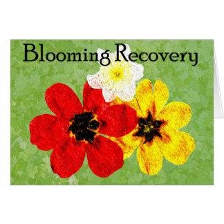 Recuperación floreciente 15 tarjeta pequeña