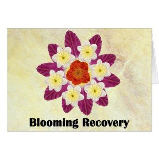 Recuperación floreciente 4 tarjeta de felicitación