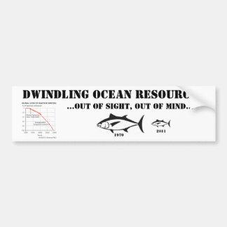 Recursos de disminución del océano pegatina para coche