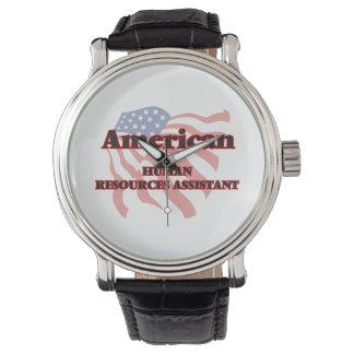 Recursos humanos americanos auxiliares relojes de mano