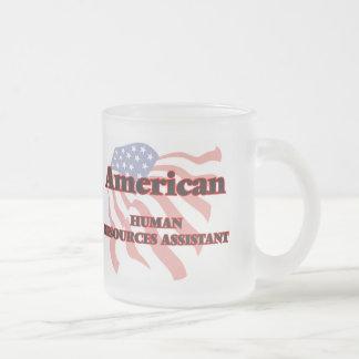 Recursos humanos americanos auxiliares taza de cristal