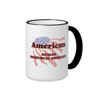Recursos humanos americanos auxiliares taza de dos colores