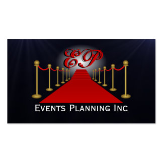 Red Carpet Special Events Planner Business Cards Business Card