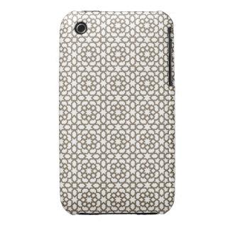 Red color oro de mosaico de geometría marroquí en iPhone 3 Case-Mate fundas