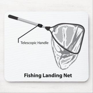 Red de aterrizaje para pescar el ejemplo marcado alfombrilla de ratón