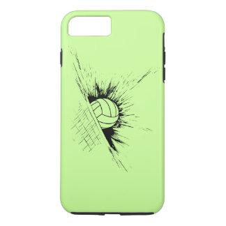 Red de la salpicadura del voleibol funda iPhone 7 plus