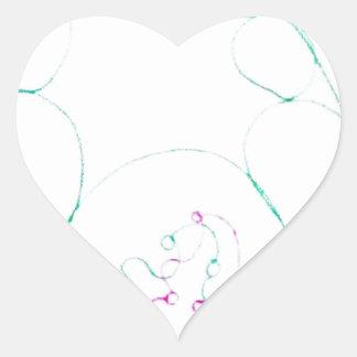 Red de un Sengaku nudoso Pegatina En Forma De Corazón