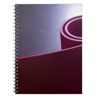 Red fitness yoga and pilates foam gym mats libretas espirales