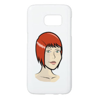 Red-haired girl samsung funda samsung galaxy s7