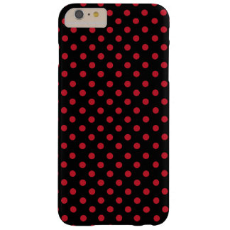 Red polka dots in black funda barely there iPhone 6 plus