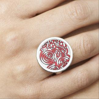 red space anillos con foto