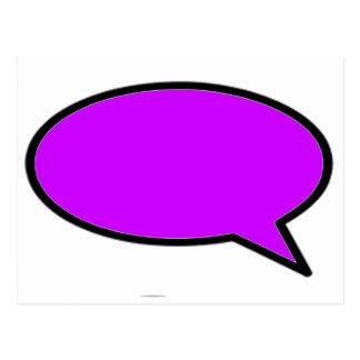 Redacte el jGibney púrpura derecho de la burbuja Tarjetas Postales