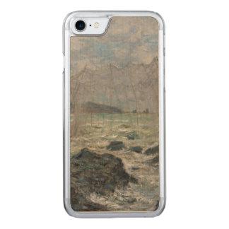 Redes de pesca en Pourville de Claude Monet Funda Para iPhone 8/7 De Carved