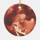 Redhead encantador del vintage ornamentos de reyes magos