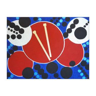 Redoble de tambor impresión en lienzo