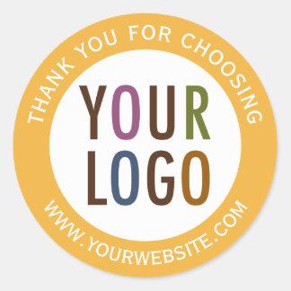 Redondo gracias logotipo del negocio de los pegatina redonda