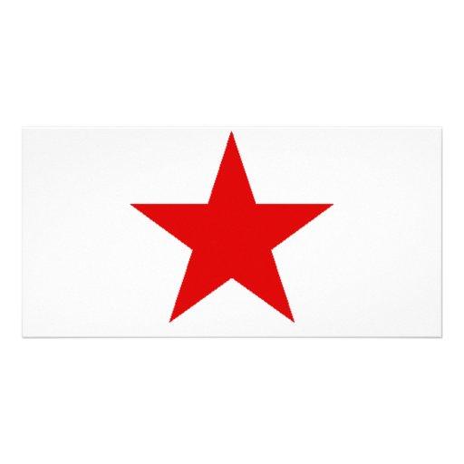 redstar tarjeta con foto personalizada