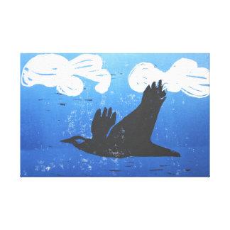 Reducción negra de la impresión del cuervo