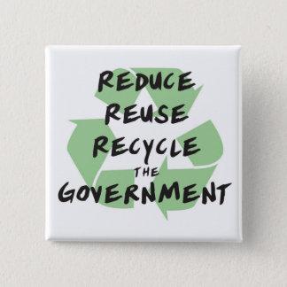reduzca el botón del gobierno