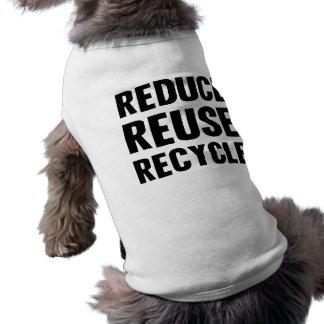 Reduzca la reutilización camiseta sin mangas para perro