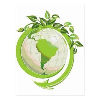 Reduzca la reutilización reciclan en todo el mundo postal