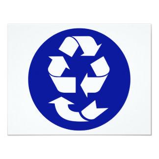 Reduzca la reutilización reciclan recuperan el invitación 10,8 x 13,9 cm