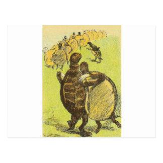 Reduzca las tortugas de la danza postal
