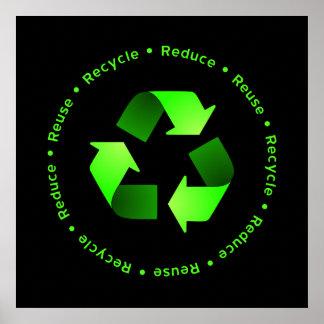 Reduzca, reutilice, recicle el poster