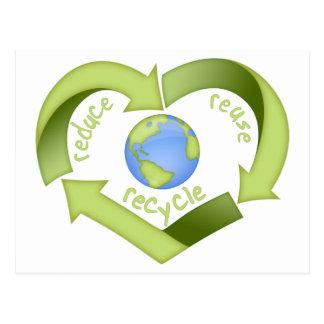 Reduzca, reutilice, recicle postal