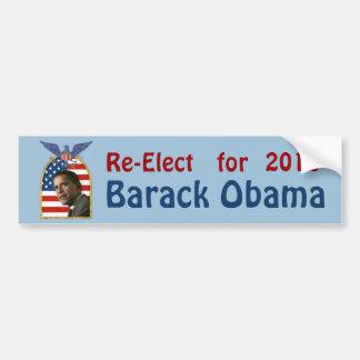 Reelección Barack Obama para 2012 Etiqueta De Parachoque