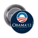 Reelija a presidente Barack Obama 2012 Chapa Redonda De 5 Cm