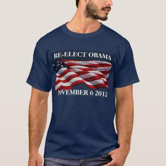REELIJA OBAMA la camisa del 6 de noviembre de 2012
