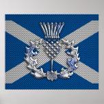 Referéndum de Escocia de la impresión de la fibra Impresiones