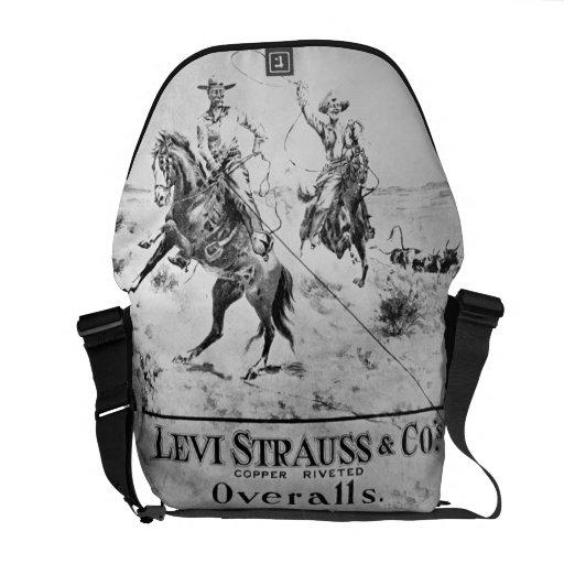 Refiera para Levi Strauss y Co, c.1900 (el litho) Bolsas De Mensajería