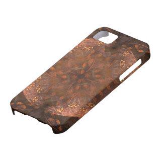 Reflejo de cobre de oro funda para iPhone SE/5/5s