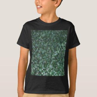 Reflejo pintado aguamarina del brillo camiseta